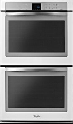 """Whirlpool WOD93EC0AH 30"""" Built-In Double Electric Convection Wall Oven - White"""