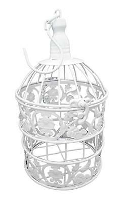 PET SHOW Round Birdcages Metal Wall Hanging Bird Cage for Small Birds Wedding