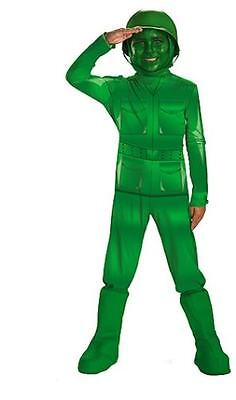 NEW Disguise Disney Toy Story 2 3 Green Army Man Men Guy Costume 3T/4T 4/6 - Green Army Guy Costume