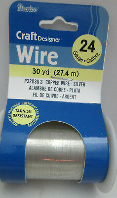(Darice  Beading / Craft Copper Wire 30 Yards, 24 gauge - Silver toned)