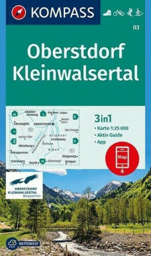 KOMPASS Wanderkarte Oberstdorf, Kleinwalsertal|Landkarte