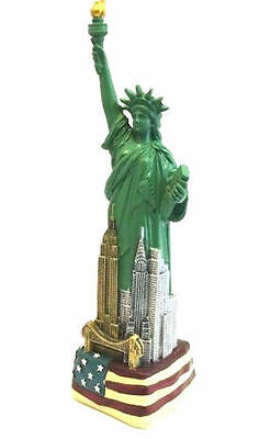 9  Statue Of Liberty Figurine W Flag Base And New York City Skylines From Nyc