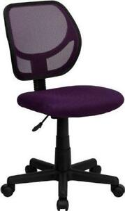 NEW Flash Furniture WA-3074-PUR-GG Mid-Back Purple Mesh Task and Computer Chair