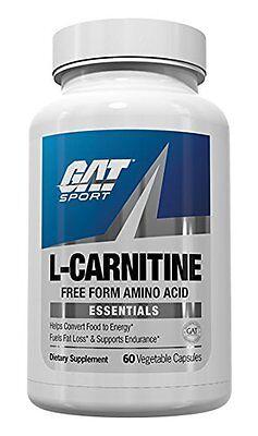 GAT L-CARNITINE 60 Caps Stim-Free Fat Burner Free Form Amino Acid Diet -