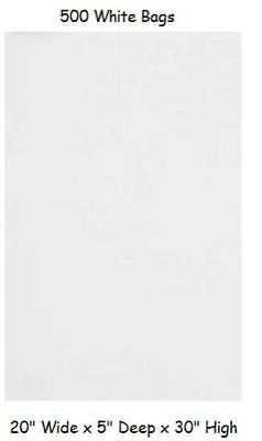 500 Plastic Shopping Bags White Gift Jumbo Retail Merchandise 20 X 5 X 30](Jumbo Plastic Gift Bags)