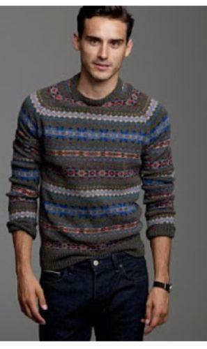 Mens Fair Isle Sweater | eBay