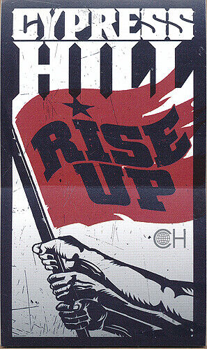 Cypress Hill Rise Up RARE promo sticker 2010