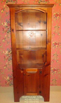 Antiqued Pine Country Craftsman China Cupboard Hutch Ethan Allen Habersham Style for sale  Sargent