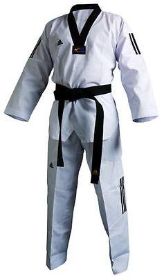 Taekwondo Club (Adidas Taekwondo Anzug Adi Club 3 Stripe schwarzes Revers)