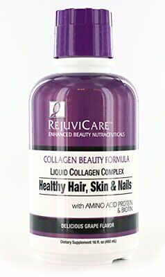 Rejuvicare Liquid Collagen Beauty Formula with Amino Acids, Protein and Biotin,