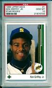 1989 Upper Deck Ken Griffey Jr PSA 10