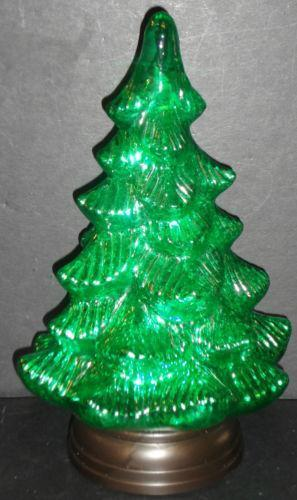 Green Glass Christmas Tree Ebay