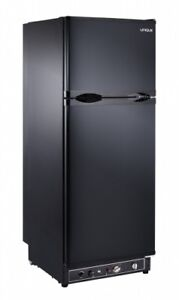 Unique 8 cu/ft Propane Refrigerator. Direct vent (Black)