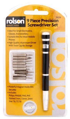 rolson precision screwdriver set ebay. Black Bedroom Furniture Sets. Home Design Ideas
