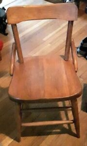 Original 1930's Haywood-Wakefield School Chair w/ Label