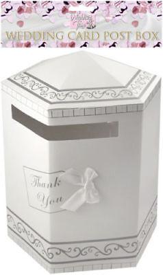 White Hexagonal Wedding Card Thank You Post Box - 31 x 40 cms - New & Sealed
