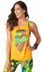 Zumba Orange Activewear Tops for Women