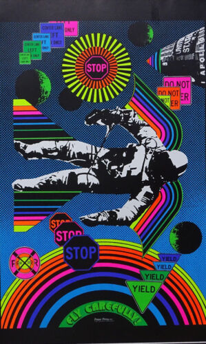 Choose from 60 different Psychedelic Blacklight Poster reproductions 1960