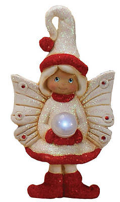 """Ceramic Bisque Ready to Paint """"Shimmer"""" Winter Fairy comes with Pom Pom"""