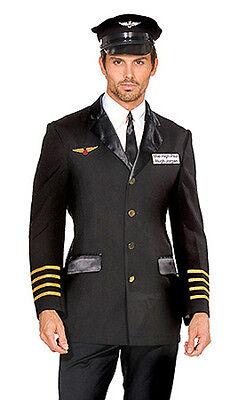 Airline Pilot Captain Hugh Jorgan Costume, Dreamgirl 5236, 4 Pc, Size M L XL XXL