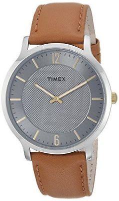 Timex TW2R49700, Men's Metropolitan Brown Leather Watch, Slim Profile, 40MM