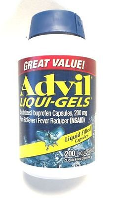 NEW - Advil Liqui-Gels 200 mg - 200 Liqui-Gels-Liquid Filled Capsules