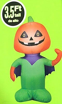 Superhero Halloween Decorations (Super Hero Jack O Lantern Pumpkin Head Airblown Inflatable Gemmy Yard Decor)