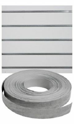 Vinyl Inserts Slatwall Panel Silver Shelving Display 130 Ft 1 Roll Decorative