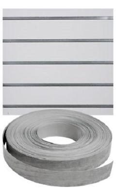 Vinyl Inserts Slatwall Panel Silver Shelving 2 130 Rolls Decorative 260 Total