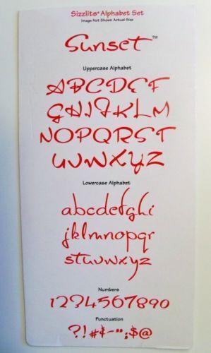 alphabet die cut machine