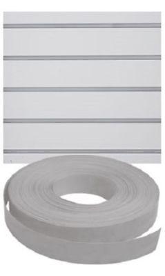 Vinyl Inserts Slatwall Panel Gray Grey Shelving Display 130 Ft 1 Roll Decorative