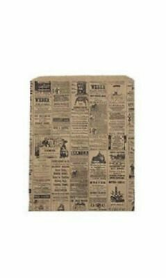 Newsprint Paper Bags 1000 8 X 11 Retail Merchandise Gift Store Black Tan News