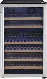 Danby 38-Bottle Capacity Dual Zone Wine Cooler DWC113BLSDB