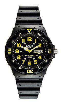 Casio Men's Sport Black/Yellow Analog Dive Watch MRW-200H-9BVDF Casio Sports Dive Watch