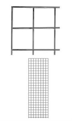 Set Of 2 Gridwall Panels 2 X 6 Grid Wall Wire Display Chrome Panel Steel