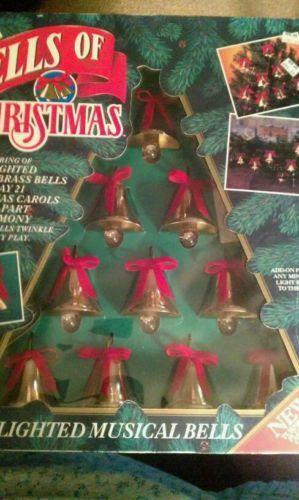 Lighted Musical Christmas Bells Ebay