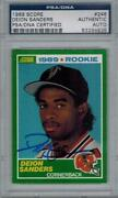 Deion Sanders Signed Card