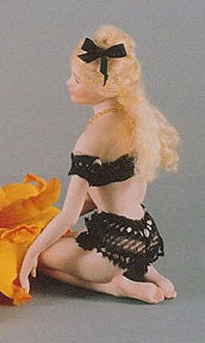 Chrystal Kneeling Lady Miniature Doll mold by Doreen Sinnett
