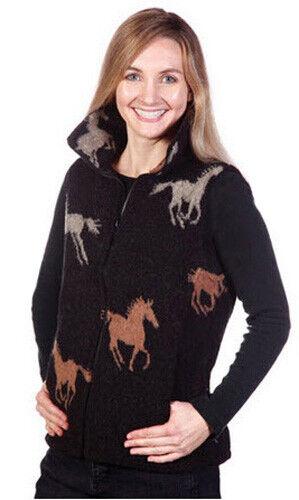 New Stampede Horses Ladies Cinchback Berber Vest