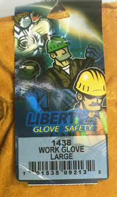 Liberty Insulated Leather Work Gloves Size Large 1438 Pack Of 2