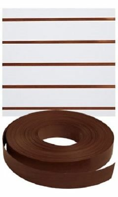 Vinyl Inserts Slatwall Panel Brown Shelving Display 130 Ft 1 Roll Decorative