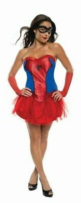Ladies Spider Girl Superhero fancy dress costume Marvel Womens (Womens Spider Girl Kostüme)