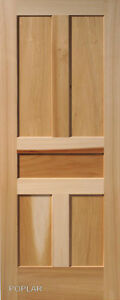 5 Panel Poplar Flat Shaker Mission Stain Grade Solid Core Interior Wood Doors Ebay