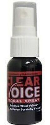 Clear Voice Vocal Spray soothes tired voices relieves scratchy throat strawberry