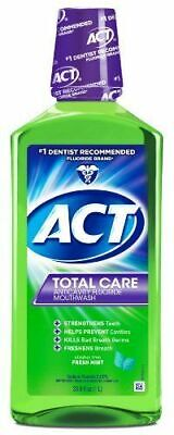 ACT Total Care Anticavity Fluoride Mouthwash Fresh Mint 33.8oz ( 1 L ) ()