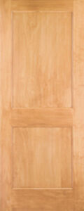 2 Panel Flat Mission Shaker Eastern Clear Pine Solid Core Interior Wood Doors