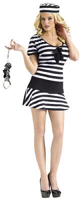 Womens Sexy Prison Inmate Halloween Costume Size S/M (Prisoner Halloween Costume Women)