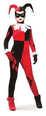 Damen Harley Quinn Hofnarr Dc Comics Bösewicht Kostüm Kleid - Comic Bösewichte Kostüm