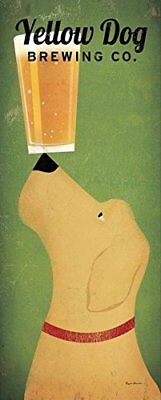Yellow Dog Brewing Co. by Ryan Fowler 20x8 Labrador Beer Art Print Poster