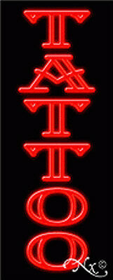 Brand New Tattoo 32x13x3 Vertical Neon Sign Wcustom Options 11239